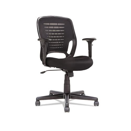 Swivel-tilt Mesh Task Chair, Supports Up To 250 Lbs, Black Seat-black Back, Black Base