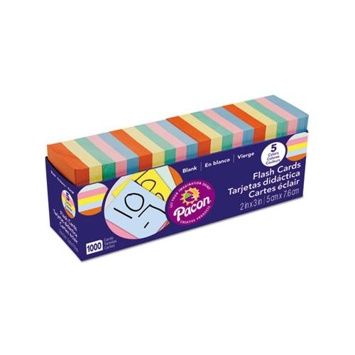 Blank Flash Card Dispenser Boxes, 2w X 3h, Assorted, 1000-pack