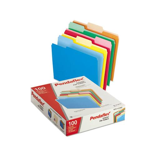 Interior File Folders, 1-3-cut Tabs, Letter Size, Assortment 2, 100-box