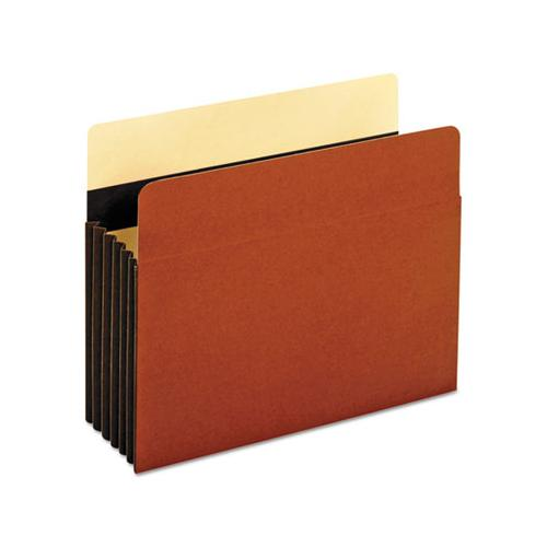 "Heavy-duty File Pockets, 5.25"" Expansion, Letter Size, Redrope, 10-box"