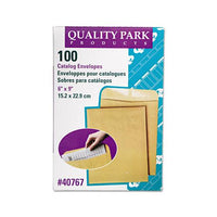 Catalog Envelope, #1, Cheese Blade Flap, Gummed Closure, 6 X 9, Brown Kraft, 100-box