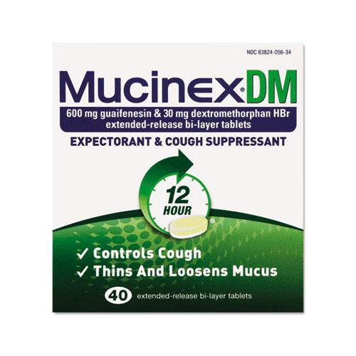 Dm Expectorant And Cough Suppressant, 40 Tablets-box