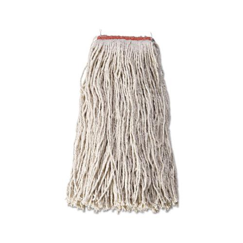 "Cotton-synthetic Cut-end Blend Mop Head, 24 Oz, 1"" Band, White, 12-carton"