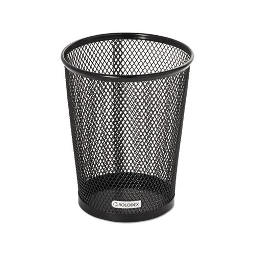 Nestable Jumbo Wire Mesh Pencil Cup, 4 3-8 Dia. X 5 2-5, Black