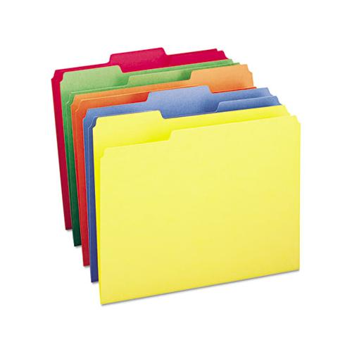 Colored File Folders, 1-3-cut Tabs, Letter Size, Assorted, 100-box
