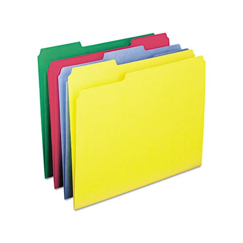 Watershed-cutless File Folders, 1-3-cut Tabs, Letter Size, Assorted, 100-box