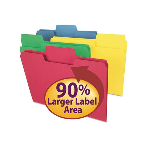 Supertab Colored File Folders, 1-3-cut Tabs, Letter Size, 11 Pt. Stock, Assorted, 100-box