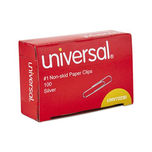 Paper Clips, Small (no. 1), Silver, 100 Clips-box, 10 Boxes-pack