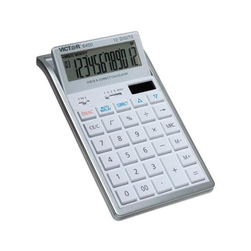 6400 Desktop Calculator, 12-digit Lcd