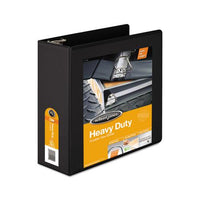 "Heavy-duty D-ring View Binder With Extra-durable Hinge, 3 Rings, 4"" Capacity, 11 X 8.5, Black"