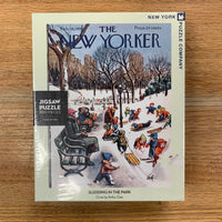 Sledding in the Park Puzzle - New Yorker