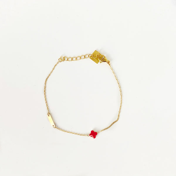 Armband Red Flower | ZAG Bijoux