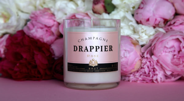 White Glass - Champagne Drappier Rosé | Champagnerkerze