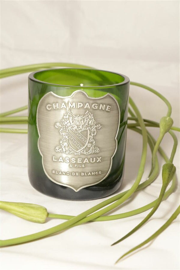 Champagner Kerze | Champagne Lasseaux Metal Silver Candle