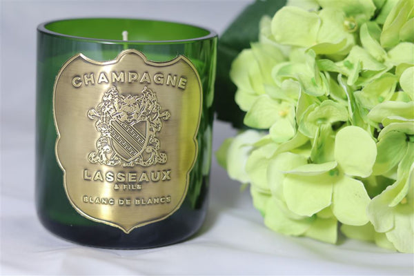Champagner Kerze | Champagne Lasseaux Metal Gold Candle