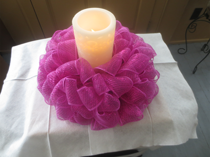 Styrofoam Candle Holder