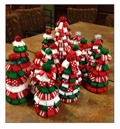 Styrofoam Christmas Trees