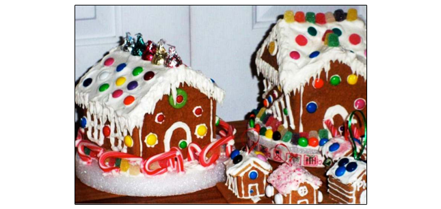 Styrofoam Gingerbread House