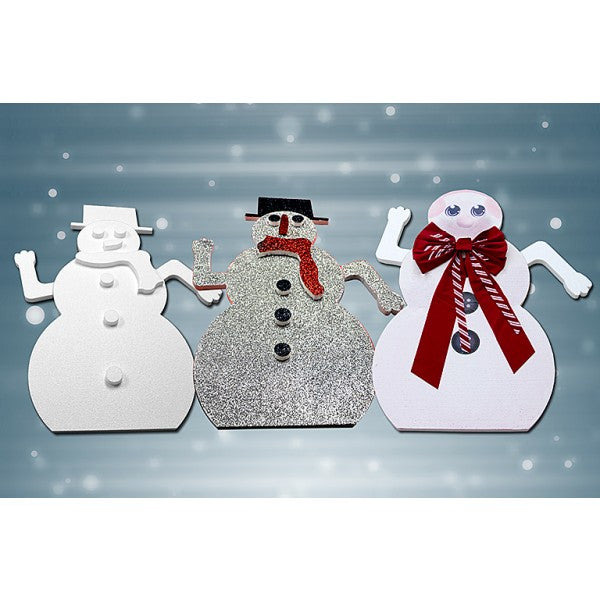 "Snowman kit 36-1/2"" tall x 1"" thick – 14 per case."