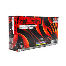 Adenna Nitrile - Angel Night Gloves - Black color 100 ct. - SMALL
