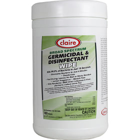 Claire® Broad Spectrum Germicidal & Disinfectant Wipes - 180 WIPES
