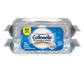 Cottonelle Flushable Wet Wipes Pack  84 ct.