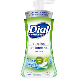 Dial Complete Foaming Antibacterial Hand Wash, Fresh Pear, 7.5 oz each