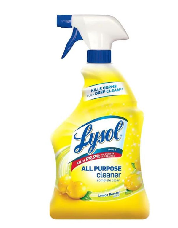 Lysol All Purpose Cleaner and Disinfectant Lemon Breeze 32 OZ