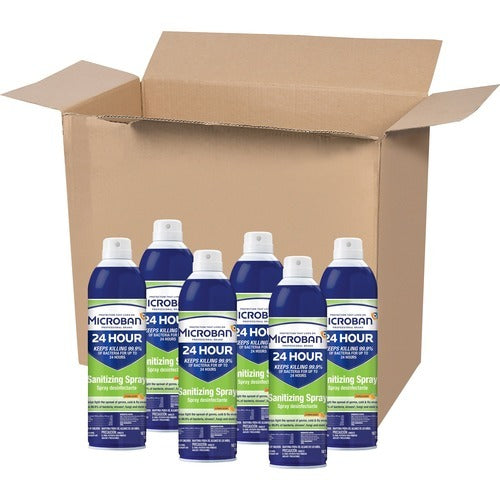 Microban Professional Sanitizing Spray - CASE of 6 Bottles Citrus Scent 15 OZ