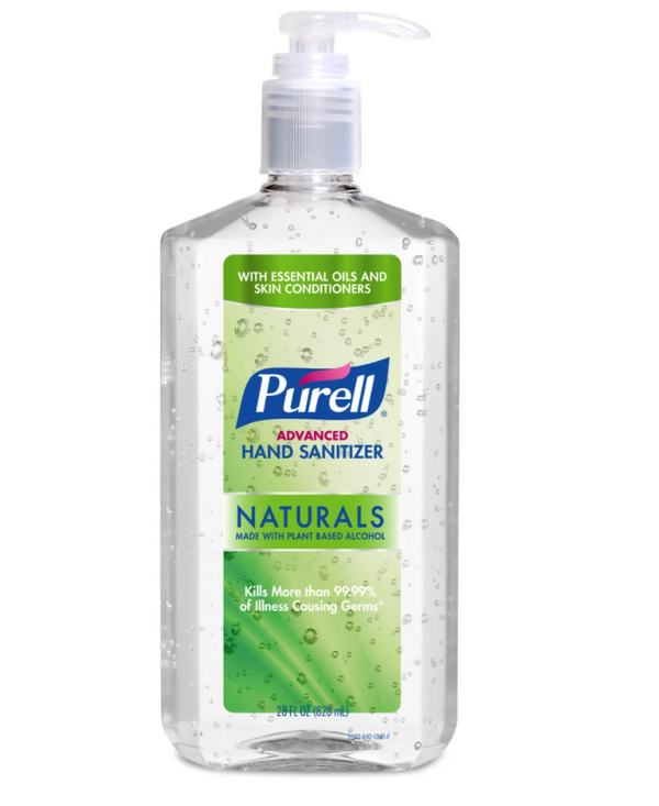 PURELL Advanced Hand Sanitizer Naturals with Plant Based Alcohol Pump Bottle 28 oz