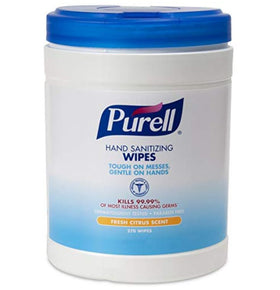 PURELL Sanitizing Hand Wipes, 6 x 6-3/4, 270 count.