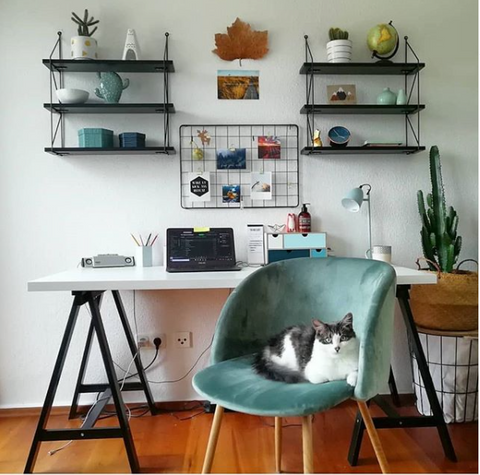 Photo credit: The workspace stylist, (curated the work from interior designer, Niki's Urban Jungle)