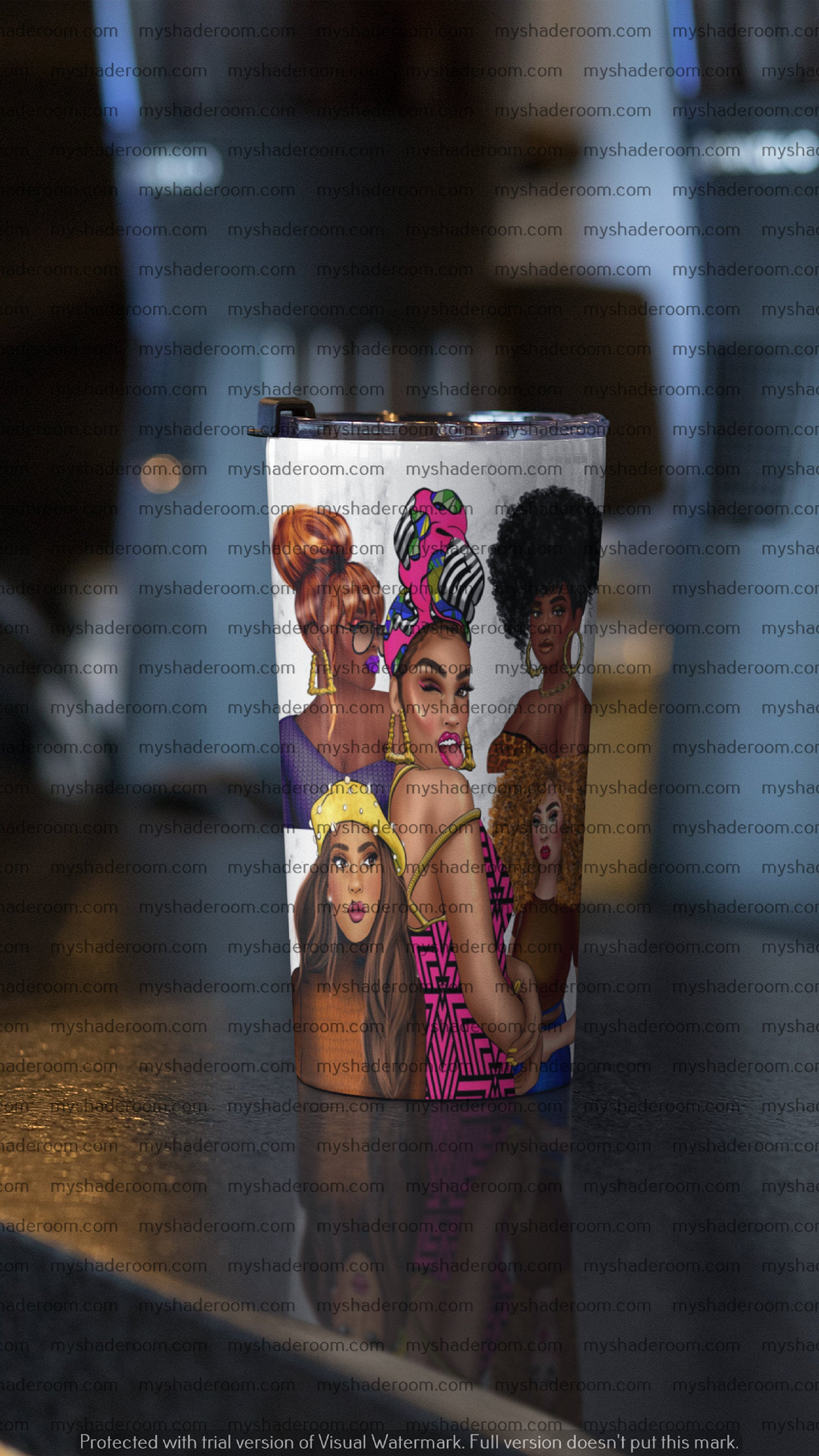 Stainless Steel 20oz Tumbler Black Girl Magic Melanin Collage