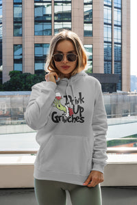 Drink Up Grinches Gray Hoodie