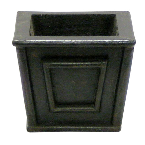 Wooden Mini Square Planter - Black Antique