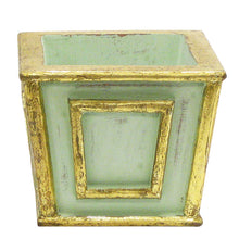 Load image into Gallery viewer, [WMSP-GG-PSN] Wooden Mini Square Container Gray/Green - Brunia & Phylicens Natural