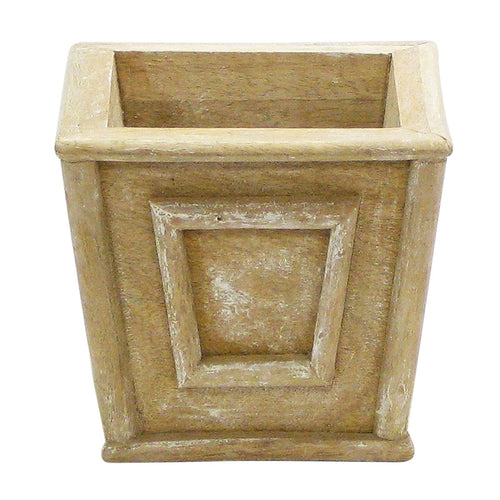 Wooden Mini Square Planter - Weathered Antique