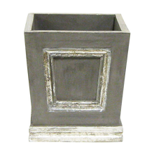 Load image into Gallery viewer, [WMSPI-DS-OROC2] Wooden Mini Square Container Dark Grey & Silver - White & Purple Orchid Artificial