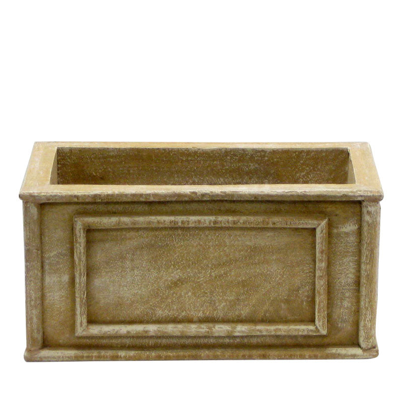 Wooden Rect. Planter - Weathered Antique