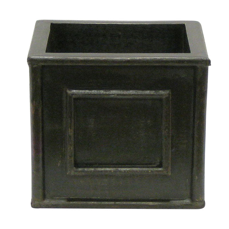 Wooden Square Planter - Black Antique
