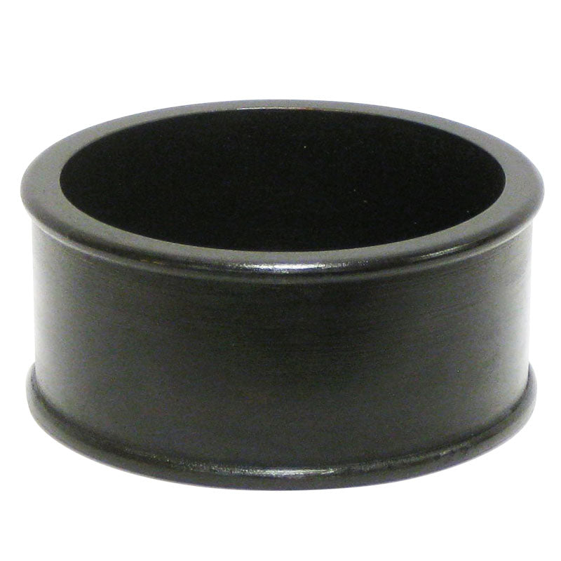 Wooden Short Round Container - Black Antique