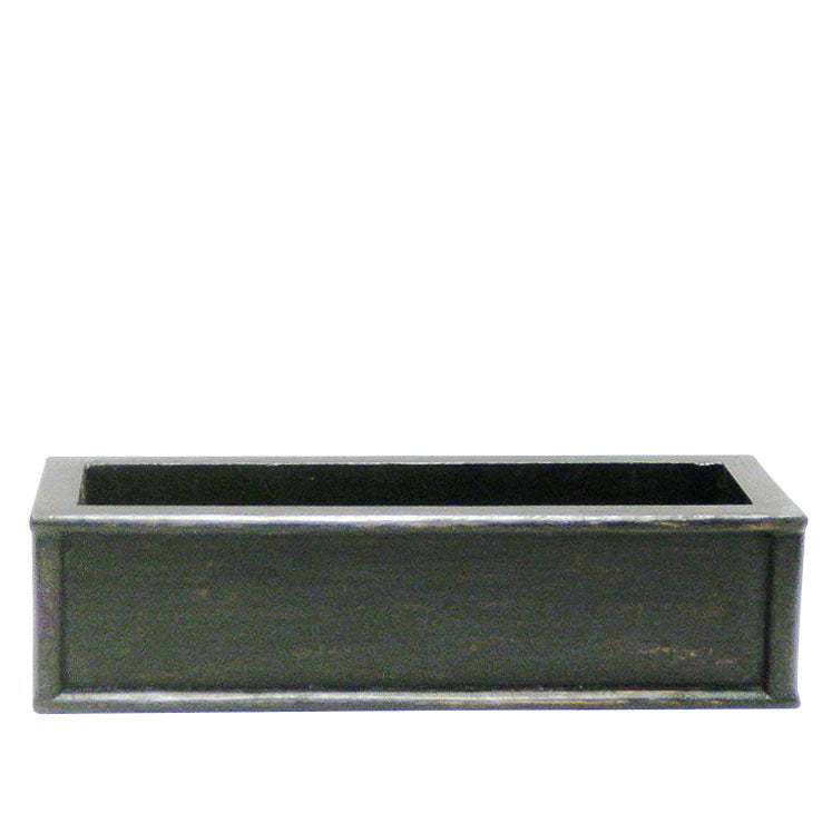 Wooden Short Rect Planter Small - Black Antique