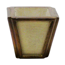 Load image into Gallery viewer, [WXSP-PD-MLBNI] Small Wooden Container Patina Distressed w/ Bronze - Multi Brown and Ivory