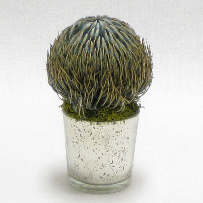 Mercury Glass Votive - Banksia Blue