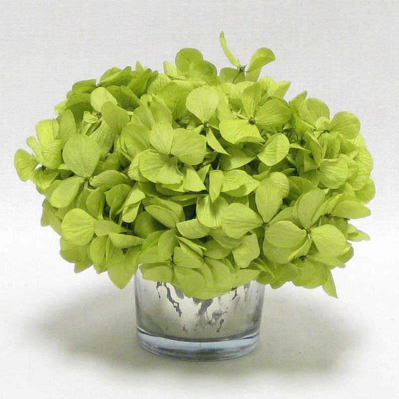 Mercury Glass Votive - Hydrangea Basil