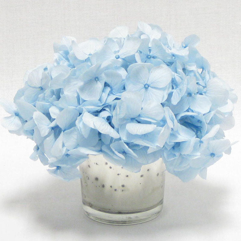 Mercury Glass Votive - Hydrangea Ice Blue