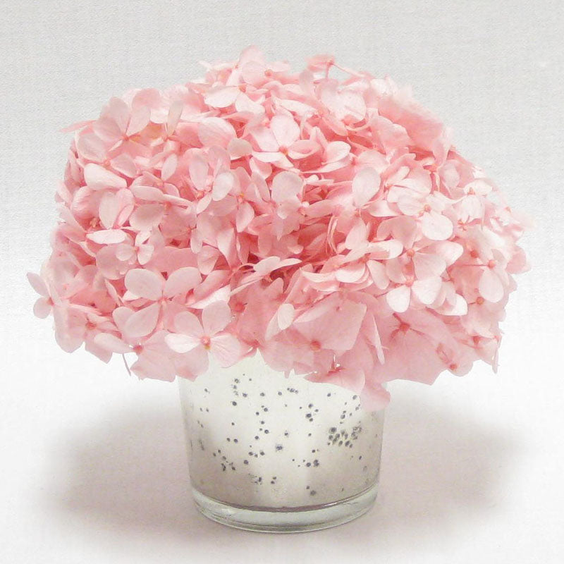 Mercury Glass Votive - Hydrangea Pink