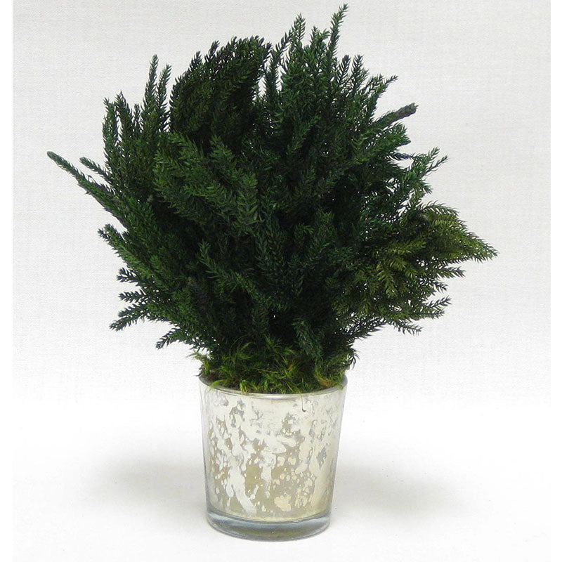 Mercury Glass Votive - Pine