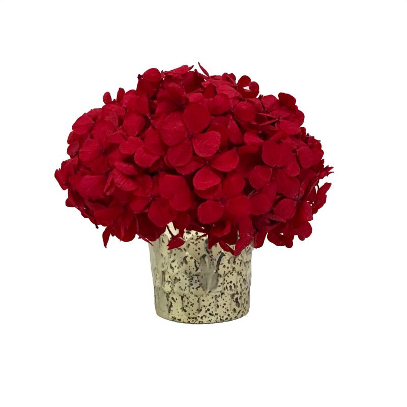Glass Votive Hammered - Hydrangea Red
