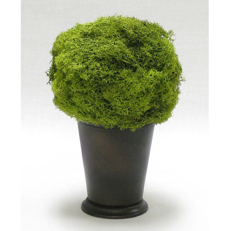 Julep Cup Copper - Reindeer Moss, Topiary Ball Basil
